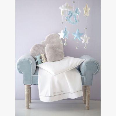 Baby Blu Completo Lenzuola per Culla