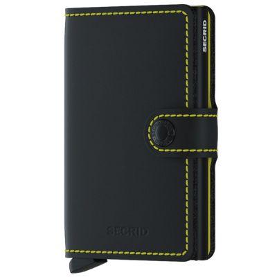Miniwallet Matte Black Yellow